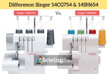 Difference Between - Singer 14CG754 vs Singer 14SH654