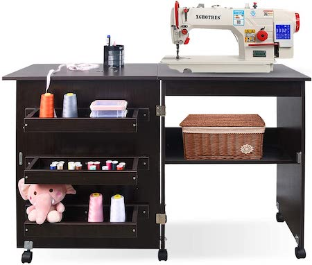 Folding Sewing Table Multifunctional Sewing Machine Cart Table