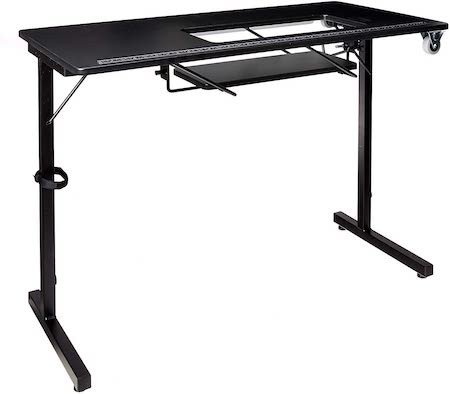 SewStation 101 Portable Folding Sewing Table with Steel Legs by SewingRite