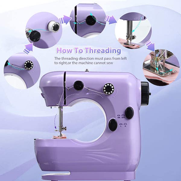 How to thread mini sewing machines